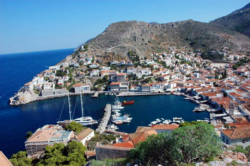 Hydra Harbour aerial view (1)